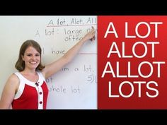 A lot, alot, lots, allot - YouTube        Repinned by Chesapeake College Adult Ed. Free classes on the Eastern Shore of MD to help you earn your GED - H.S. Diploma or Learn English (ESL).  www.Chesapeake.edu