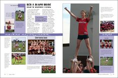 Yearbook spreads | on the design of the yearbook. The sidebar on this opening spread ...