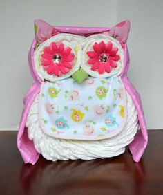 Owl Diaper Cake: Who, who, who wouldn't love this owl diaper cake ($38) for a shower?