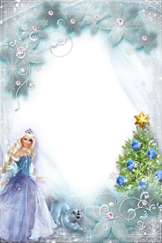 Photo+Frame+for+Little+Girls+-+New+Year+Fairy+Tale+with+Barbie_by+GalinaV.png (1067×1600)