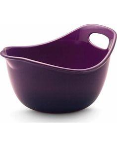 Rachael Ray Stoneware, 3-Quart Mixing Bowl, Purple from Amazon.com   BHG.com Shop