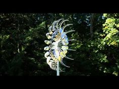 Di-Octo All stainless steel kinetic wind sculpture by Anthony Howe. Nearly silent operation.