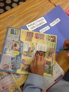 Love this simple strategy for using old Scholastic Book Flyers to teach author's purpose!