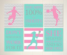 Teen Girl Wall Art basketball girl wall art, basketball player, basketball room decor