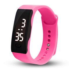 Fashion Young Men Women Wristband Clock Rubber LED Watch Boys Girls Date Sports Bracelet Digital Wrist Watches Creative Jun19