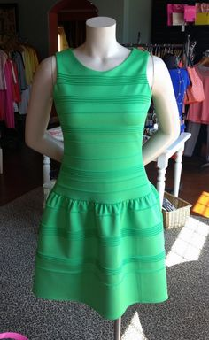 Beth Bowley green dress at Serendipity, Louisville. Derby Picks: The Outfit, Not the Horse