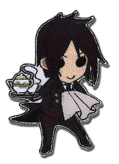 - Officially Licensed - Iron or sew it on - Approximately 3 inches tall x 2 inches wide - Great for Black Butler fans! - Made in China