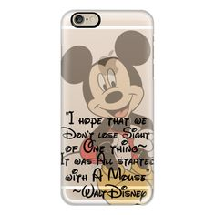 iPhone 6 Plus/6/5/5s/5c Case - Walt Disney It Was All Started with a... ($40) ❤ liked on Polyvore featuring accessories, tech accessories, iphone case, iphone cover case, apple iphone cases and slim iphone case