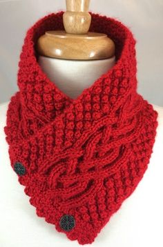 Neckwarmer Irish Celtic Knot Trinity Harvest Red Handknit in Caron Simply Soft. Very intricately knit Irish Trinity Celtic Knot Neck Warmer is in a warm beautiful Harvest Red Extra Soft yarn. Crochet Amigurumi, Knit Or Crochet, Crochet Scarves, Crochet Shawl, Loom Knitting, Knitting Patterns Free, Knit Patterns, Free Knitting, Simply Knitting