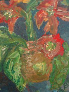 #Amoryllis #flower #painting by #Ann Lutz.