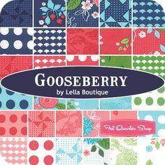 Gooseberry YardageLella Boutique for Moda Fabrics - Gooseberry - Moda Fabrics   Fat Quarter Shop