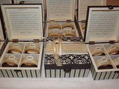 convite ou lembrança para padrinhos de casamento