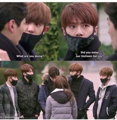 It was that moment my life was all sparkly! Exo next door Exo Bts, Kpop Exo, Got7, Exo Next Door, Kyungsoo, Chanyeol, Kdrama, Moorim School, Kim Minseok