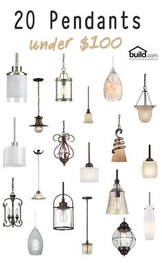 Check out these beautiful pendants that are all under $100! #lighting #pendants #pendantlighting