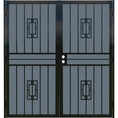 Gatehouse Ventura Black Steel Double Door Security Door (Common: x Actual: x at Lowe's. The Ventura security door features a durable expanded metal screen. Get both protection and privacy with this stylish screen door. Security Door, Security Screen Door, Double Doors, Steel Double Doors, Steel Security Doors, Door Sweep, Metal Plant Stand, Black Steel, Doors