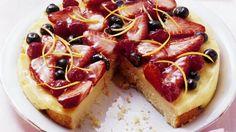 Rezept: Zitronen-Quark-Kuchen mit Obst