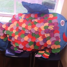 "The Rainbow Fish Activity  I used it as a school wide project to help deal with friendship.  Kids really had a great time doing it and took a lot of pride in their ""scales""  First we read the book. Then each student got a scale. On each scale, they wrote either a ""thank you"" to someone in their class or how they were a good friend to others.   :) lots of fun and a great arts integrated lesson!"