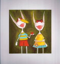 Print of my original folk art mixed media painting by DUDADAZE