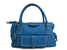 #Tods Hand bag Leather Blue (BF073115). Authenticity guaranteed, free shipping worldwide & 14 days return policy. Shop more #preloved brand items at #eLADY: http://global.elady.com