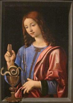Piero di Cosimo (Piero di Lorenzo) - St. John the Evangelist, c. 1500 - St Jean l'Evangéliste, 1500 Beaux-arts d'Honolulu
