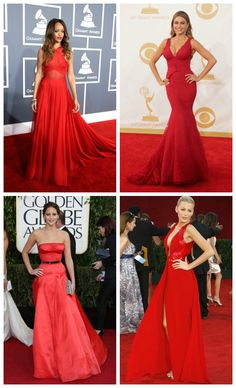 Red is definitely the sexiest color out there and these celebs have it right on the red carpet #ladylux #ladyluxswimwear #fashion