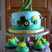 Tractor cake.  oh yes :)    for my future sons some day.