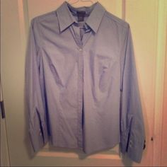 Ladies Ann Taylor Blouse Blue. Size 12 Ann Taylor Tops Button Down Shirts
