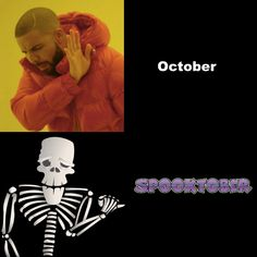 Night mode Spooktober memes are in! Spooktober Memes, Random Stuff, Funny Stuff, Spooky Memes, All The Things Meme, Skeletons, Tumblr Posts, Creepy, Investing