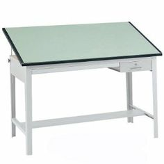 Safco Precision Drafting Table by Safco. $981.98. This durable steel drafting table includes a drawer for plans and a locking tool drawer. The adjustable angle board is available in 60 or 72-inch widths and features a non-glare green laminate finish.