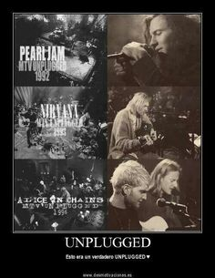 Pearl jam, Nirvana, Alice in chains MTV Unplugged Music Mix, Sound Of Music, Music Love, Music Is Life, Good Music, Amazing Music, Pearl Jam Eddie Vedder, Mtv Unplugged, Tour Posters