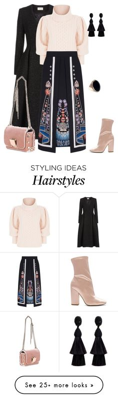 """""""outfit 6969"""" by natalyag on Polyvore featuring Temperley London, Kendall + Kylie, Jimmy Choo and Oscar de la Renta"""