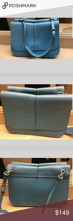 Gianni Chiarini tiffany blue bag Great condition. Genuine leather. Made in Italy. Authentic.   Medium-sized Gianni Chiarini flapover crossbody bag, magnetic fastener, adjustable and removable shoulder strap, smooth and rigid leather. Inside: 2 open compartments including one with 1 zipped pocket. Gianni Chiarini Bags Crossbody Bags