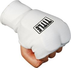 "TITLE Boxing Fist Guard, Regular by Title Boxing. $6.95. Fist cover fits nicely into bag gloves and training gloves. Elastic cover makes a good form fit to hand. Approximate 3/4"" padding is perfect for extra hand and knuckle protection. Can be worn under wraps for ultimate hand protection. Wear alone for additional protection on all workouts."