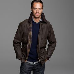 J.crew Barbour Sylkoil Bedale Jacket in Brown for Men (olive) | Lyst