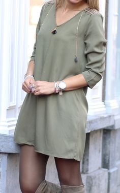 Army tassel tunic - available via www.my-jewellery.com | #army #tassel #tunic #gold #outfit #fashion #overknee #boots #armcandy #myjewellery