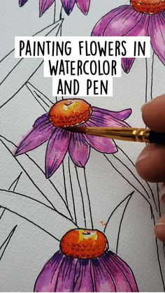 Watercolor Tutorials, Watercolor Ideas, Watercolor Drawing, Watercolor Pencils, Gouache Painting, Watercolor Techniques, Watercolor Cards, Rock Painting, Watercolor Flowers