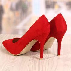 Poze Pantofi Stiletto Brooklyn Rosu Cod: 780
