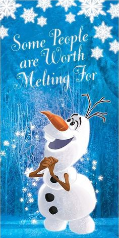 Disney Frozen Olaf ''Some People Are Worth Melting For'' Canvas Wall Art