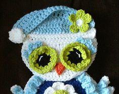 Crochet Breast Cancer Awareness Owl Potholder by 3ThreadinBettys