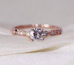 Love, love, love Rose gold engagement ring www.runawaywithme.com