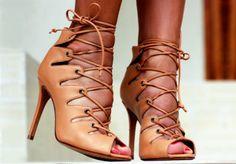 sandalias de amarrar de festa marrom