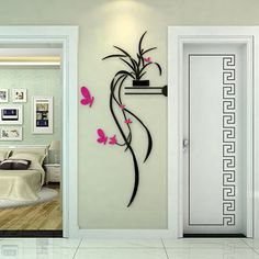 Cartoon Flower Butterfly wall Stickers DIY Decal Window glass Wall decor Home Decoration kids children Nursery room decor Home Decor Styles, Diy Home Decor, 3d Sticker, Cosy Interior, Background Decoration, Butterfly Wall, Butterfly Pattern, Flower Wall, Room Posters