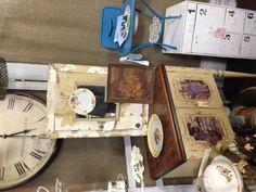 Repurposed sewing cabinet!