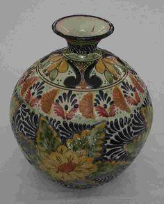 Talavera Round Jar - Mexican Connexion for Talavera Pottery [ MexicanConnexionforTile.com ] #shop #Talavera #Mexican