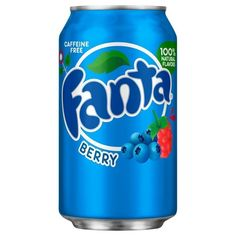 Fanta Berry Flavour USA Soda Can - imported American fizzy drinks with quick delivery from Treasure Island Sweets Dr Pepper, Refreshing Drinks, Yummy Drinks, Boxes Of Sweets, Soda Drink, Sparkling Drinks, Junk Food Snacks, Kid Drinks, Delicious Fruit