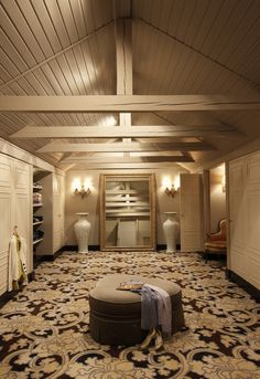 Attic turned into a useful Closet instead of a dusty storage space...dreamy