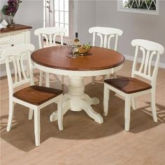 I Think This Is How I Want To Refinish My Kitchen Table And Chairs! LOVE