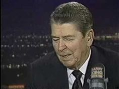 Ronald Reagan speaking about assassination attempt