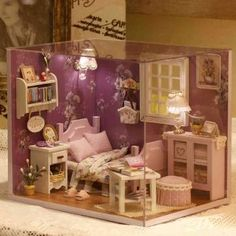 Toys & Hobbies Architecture/diy House/mininatures Dependable New Girl Diy 3d Wooden Mini Dollhouse Doll House Furniture Educational Toys Furniture For Children Pink Girl Heart Numerous In Variety