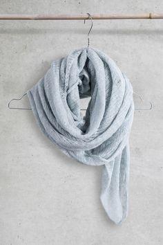 Blue summer scarf